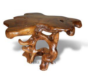 Cheriebianca.com teak root furniture mushroom table 110x90xx75cm