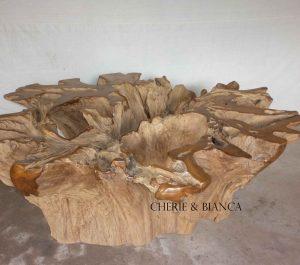 Cheriebianca.com Tree Teak Root Furniture 5592a dinning table eroted XXXL 200x200x80cm