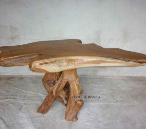 Cheriebianca.com Tree Teak Root Furniture 7081a top table170x90x80cm