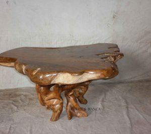 Cheriebianca.com Tree Teak Root Furniture 7126a dinning table 165x120x80cm