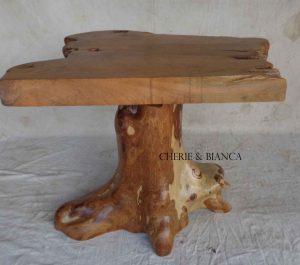 Cheriebianca.com Tree Teak Root Furniture 7210a table top 80x60x70cm