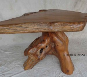 Cheriebianca.com Tree Teak Root Furniture 7212a top table 140x100x80cm