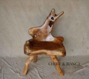 Cheriebianca.com tree teak root furniture 6813a chair65x50x106cm