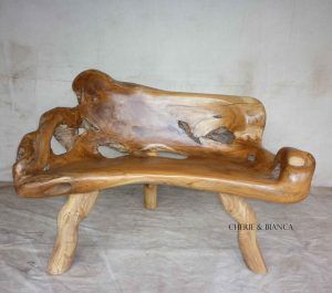 Cheriebianca.com tree teak root furniture 7063a bench 115x60x80cm
