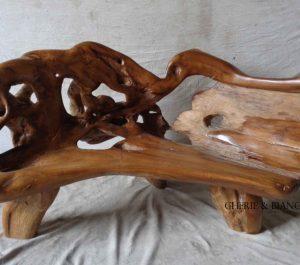 Cheriebianca.com tree teak root furniture 7190a bench xl 220x110x 120cm