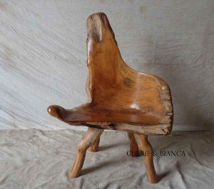 Cheriebianca.com tree teak root furniture 7194a chair90x50x100cm